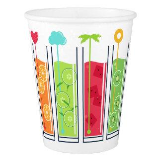 夏ジュースのカスタムな文字の紙コップ 紙コップ