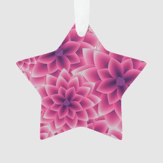 夏多彩なパターン紫色のダリア オーナメント