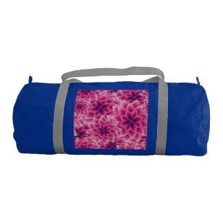 夏多彩なパターン紫色のダリア ジムバッグ