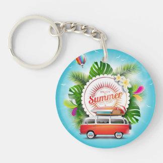 夏季休暇の円(両面の) Keychain キーホルダー