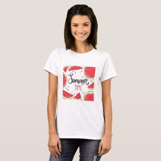 夏時間のスイカ Tシャツ