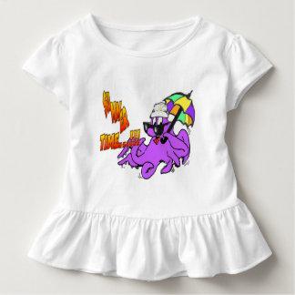 夏時間のタコの幼児のひだのティー トドラーTシャツ
