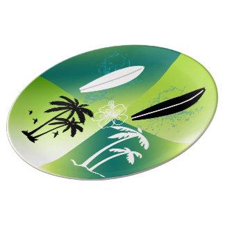 夏時間のテーマの装飾的な磁器皿 磁器プレート