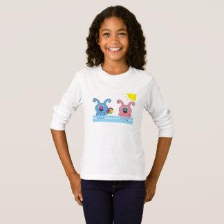 夏時間のRollysの女の子L/Sのワイシャツ Tシャツ