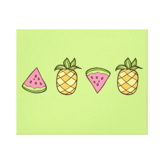 夏期のパイナップルフルーツ キャンバスプリント