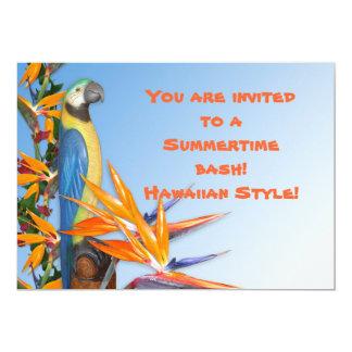 夏期のパーティーのためのルアウ(ハワイ式宴会)の招待状 カード