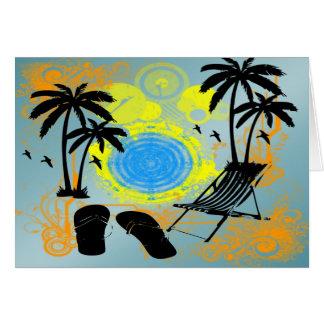 夏期休暇 グリーティングカード