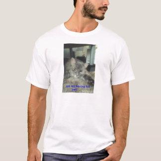 夏期-メインのあらいぐまのTシャツ Tシャツ