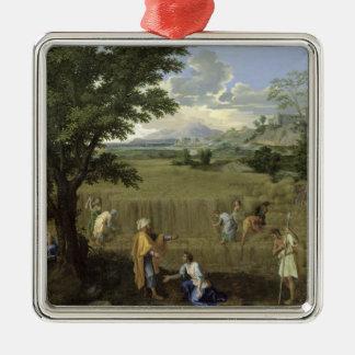 夏、かルースおよびBoaz 1660-64年 メタルオーナメント