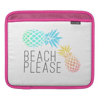 """夏""""ビーチ""""を向きます、多彩なパイナップル iPadスリーブ"""