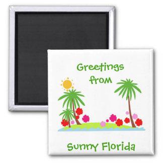 夏--ヤシの木および太陽冷却装置磁石 マグネット