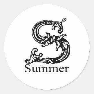 夏 ラウンドシール