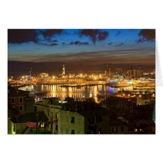 夕べのジェノバそして港 カード