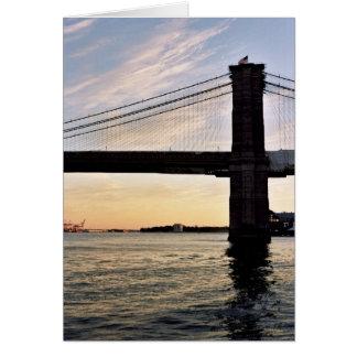 夕べのブルックリン橋 カード