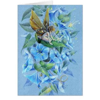 夕べの栄光の花の妖精 グリーティングカード