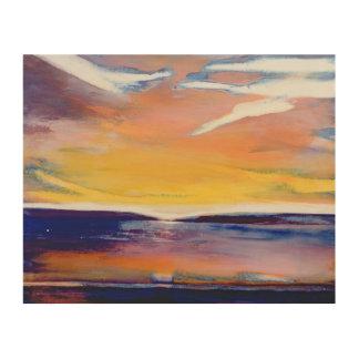 夕べの海景 ウッドウォールアート