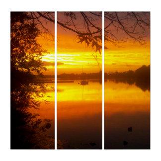 夕べの金ゴールド(たる製造人の川で) トリプティカ