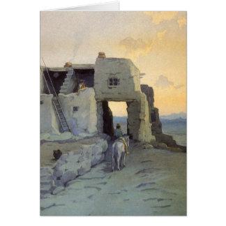 夕べ、マリオンKavagh Wachtel著Walpiの村落 カード