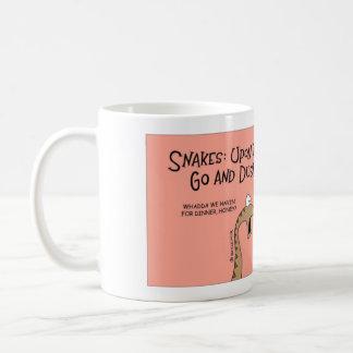 夕食について尋ねているヘビ コーヒーマグカップ