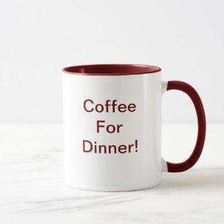 夕食のためのコーヒー マグカップ