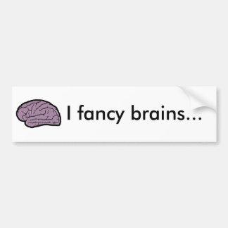 夕食のための頭脳 バンパーステッカー