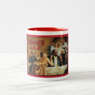 夕食のエールのマグ ツートーンマグカップ