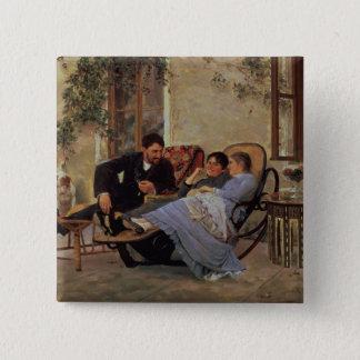 夕食の後、1888年 5.1CM 正方形バッジ