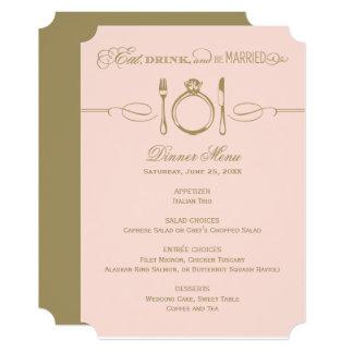 夕食メニューカード|アンティークおよび赤面は結婚したです カード