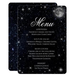 夕食メニュー 星明かりの夜 カード