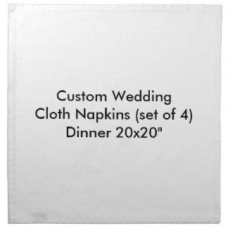 夕食20x20セットの4カスタムな結婚式の布のナプキン ナプキンクロス