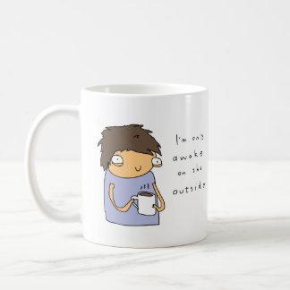 外側|のおもしろいな喜劇的なコーヒー・マグだけで気づかせて下さい コーヒーマグカップ