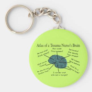 外傷のナースの頭脳の地図書 キーホルダー
