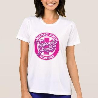 外傷の麻薬常習者のピンク Tシャツ