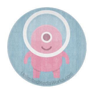 外国かわいいピンクのシクロプス カッティングボード
