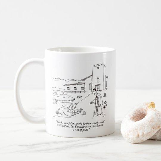 外国のエンドウ豆の崇拝の右の漫画のマグ コーヒーマグカップ