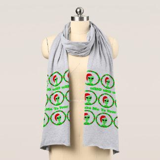 外国のサンタのヒイラギのリースのおもしろいで醜いクリスマス スカーフ