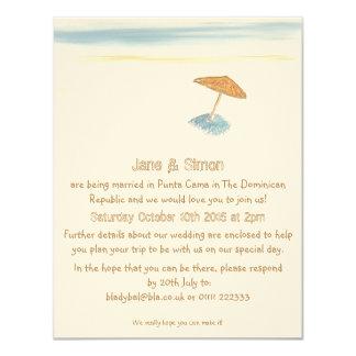 外国のビーチ結婚式の招待状 カード