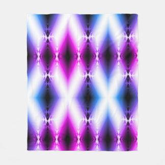 外国のビーム明るいピンクの紫色は未来を念力で移動します フリースブランケット