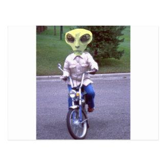 外国のモーターバイク ポストカード