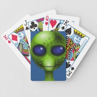 外国の地球大気圏外CRITUREの緑の外国カード バイスクルトランプ