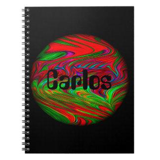 外国の惑星の名前入りな一流のノート ノートブック