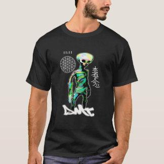 外国の灰色のTシャツDMTのスピリチュアルの落書き Tシャツ