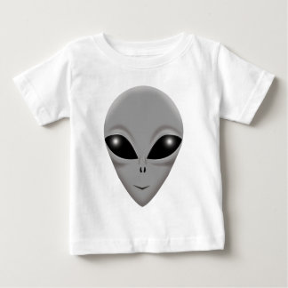 外国の灰色 ベビーTシャツ