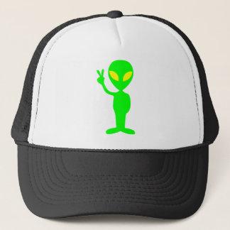 外国の点滅のピースサインのトラック運転手の帽子 キャップ