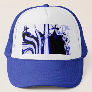 外国の熱帯地方-フラクタルの芸術のデザイン。 青および白 キャップ