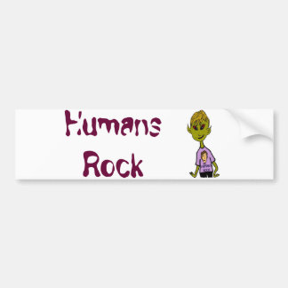 外国の男の子-人間の石 バンパーステッカー