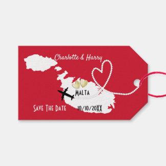外国の結婚式のマルタの保存日付 ギフトタグ