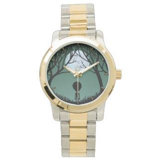 外国の腕時計のかわいい灰色のエイリアンとエイリアンの腕時計 腕時計