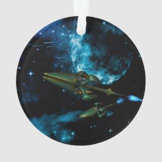 外国の船が付いている宇宙 オーナメント
