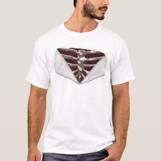 外国の金属の骨組によって引き裂かれる人のTシャツ Tシャツ
